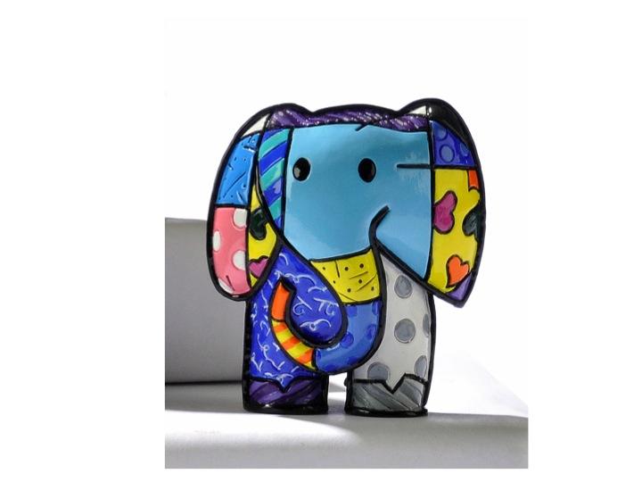 Britto Miniature U201cLuckyu201d Elephant Figurine