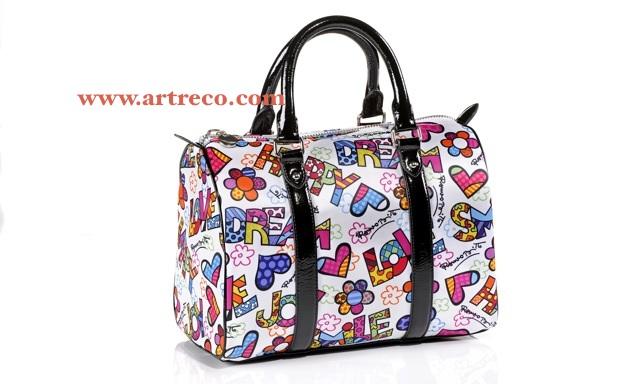 Britto White Polyester Satchel Handbag