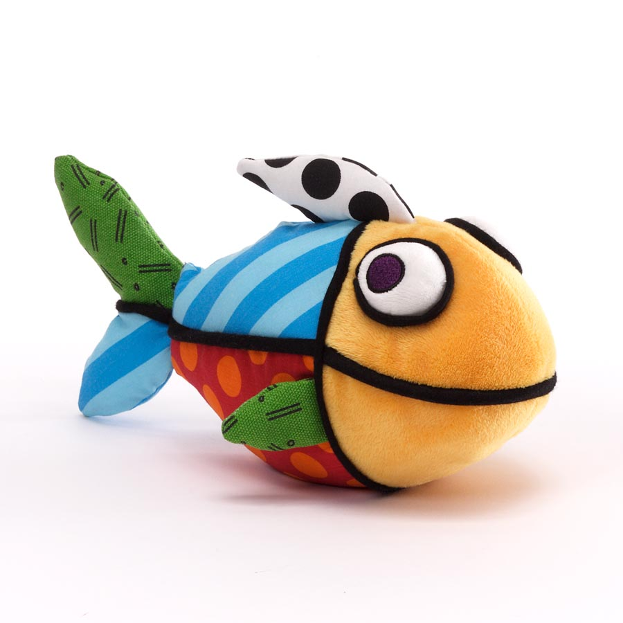 Britto mini fish stuffed animal plush artreco for Fish stuffed animal