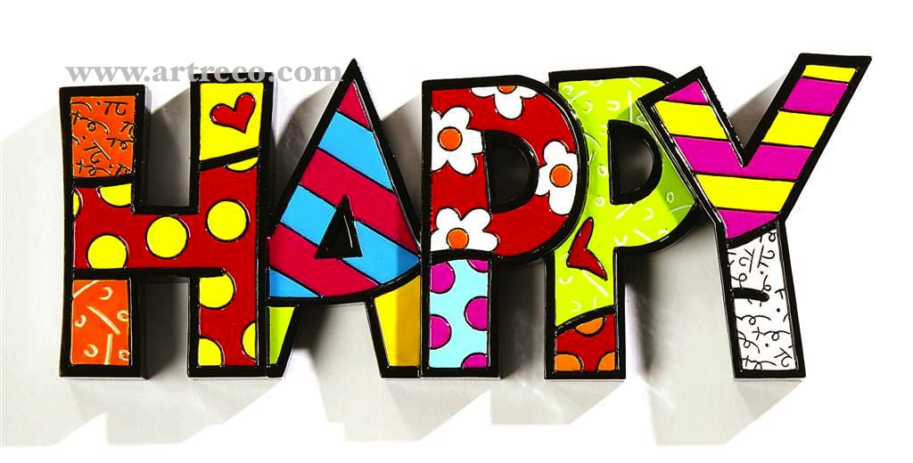 Britto Table Decor - HAPPY - Artreco