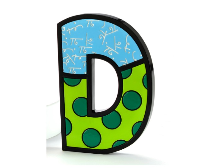Britto Tall/Wall Decor: Letter D - Artreco