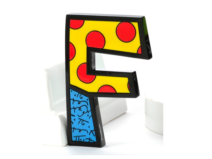 Britto tall wall decor letter f artreco for Letter f decoration