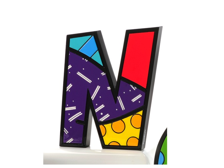Britto tall wall decor letter n artreco for Letter n decorations