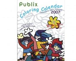Britto Publix Coloring Calendar 2007