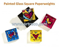Britto Square Paperweight
