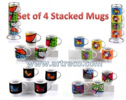Britto Stacked Mugs