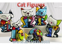 Britto Cat Figurines