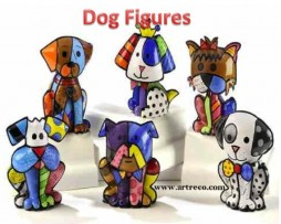 Britto Dog Figurines