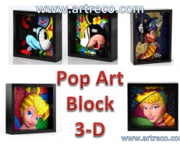 Britto Disney Pop Art Block 3-D