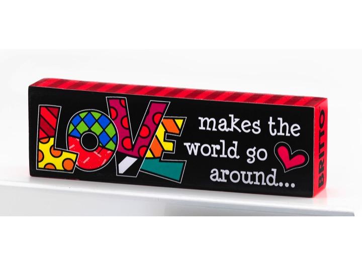 LOVE  ** NEW ** Romero Britto Sentiment Desk Block