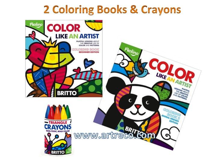 Coloring Like an Artist - 2 Coloring Books & Crayons - Artreco