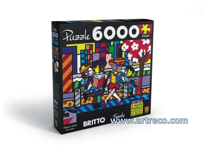 britto family puzzle 6000 pcs artreco. Black Bedroom Furniture Sets. Home Design Ideas