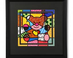 Romero Britto Bear Large Framed Print