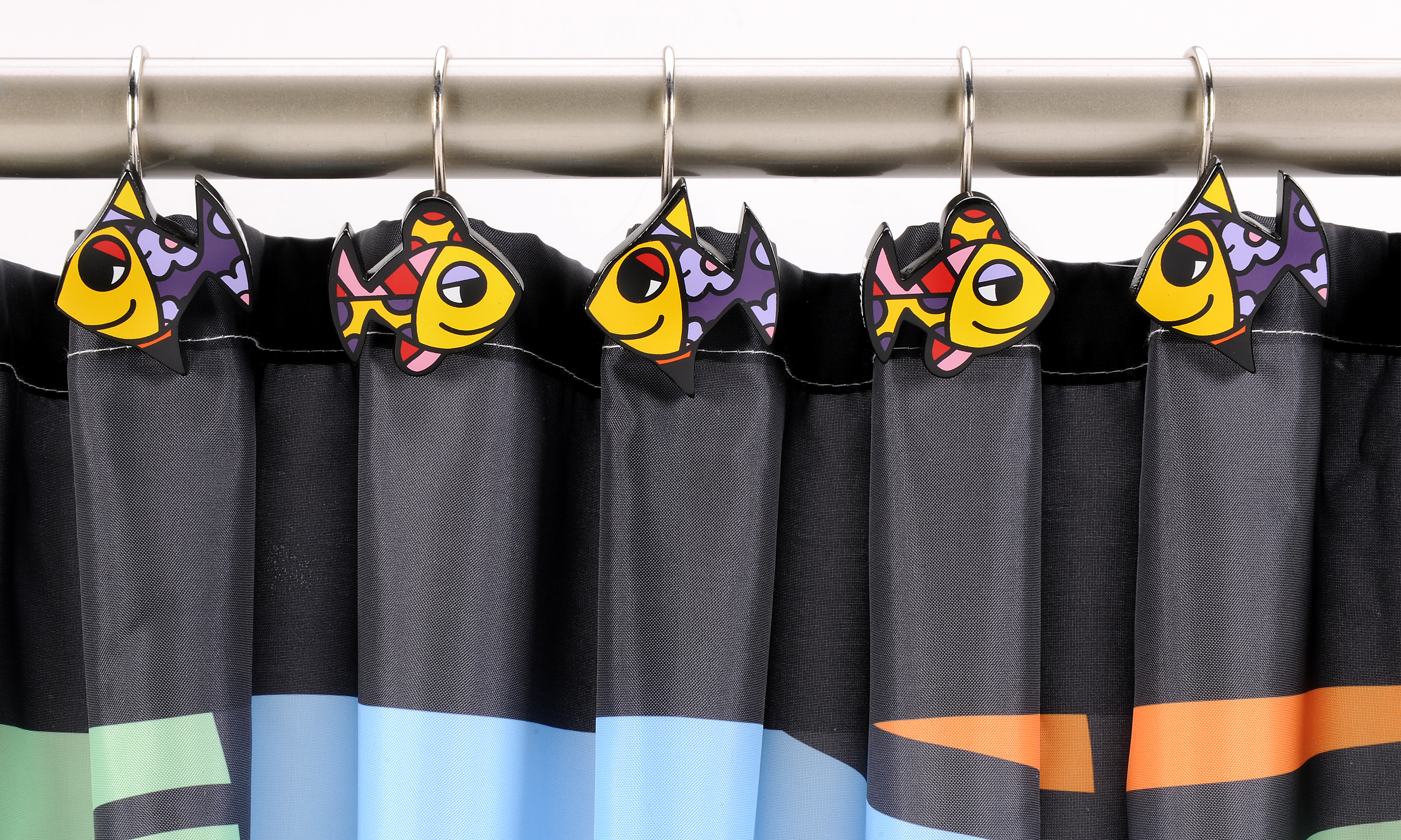 Britto Deeply In Love Shower Curtain Curtain Hooks