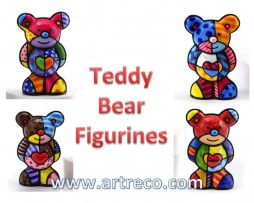 Britto Teddy Bear Figurines