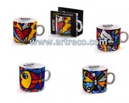 Miniature ceramic mugs