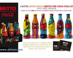 6 Bottle Limited Edition Britto Coca-Cola Set