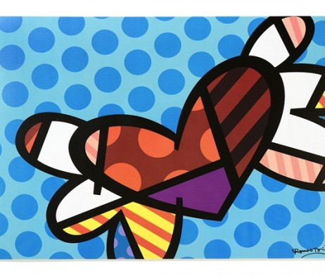 Britto Placemat Flying Heart Artreco