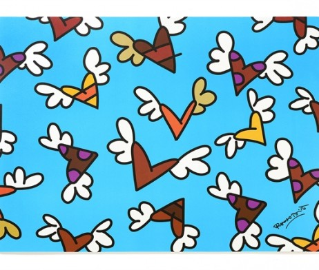 Britto Placemat Miniature Flying Hearts Artreco