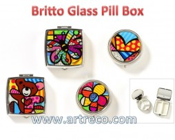 Britto Glass Pill Boxes