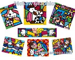 McGaw Graphics Romero Britto Posters