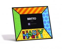Romero Britto Glass Frame HAPPY Artreco