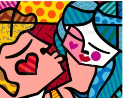 Sweet Kisses Poster by Romero Britto