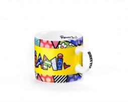Romero Britto Mini Ceramic Mug - Miami