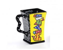 Romero Britto Square Ceramic Mug MIAMI