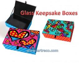 Britto Glass Keepsake Boxes