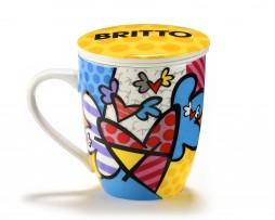 Britto Infuser Mug w: Lid - Flying Heart