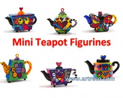 Britto Mini Teapot Figurines