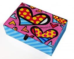 Romero Britto Glass Keepsake Box - Hearts