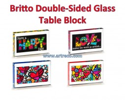 Britto Double-Sided Glass Table Block