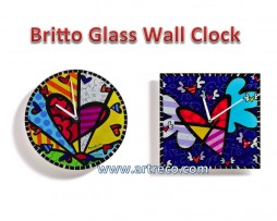 Britto Glass Wall Clock