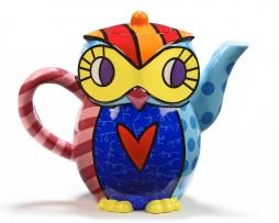 Romero Britto Large Teapot - Owl