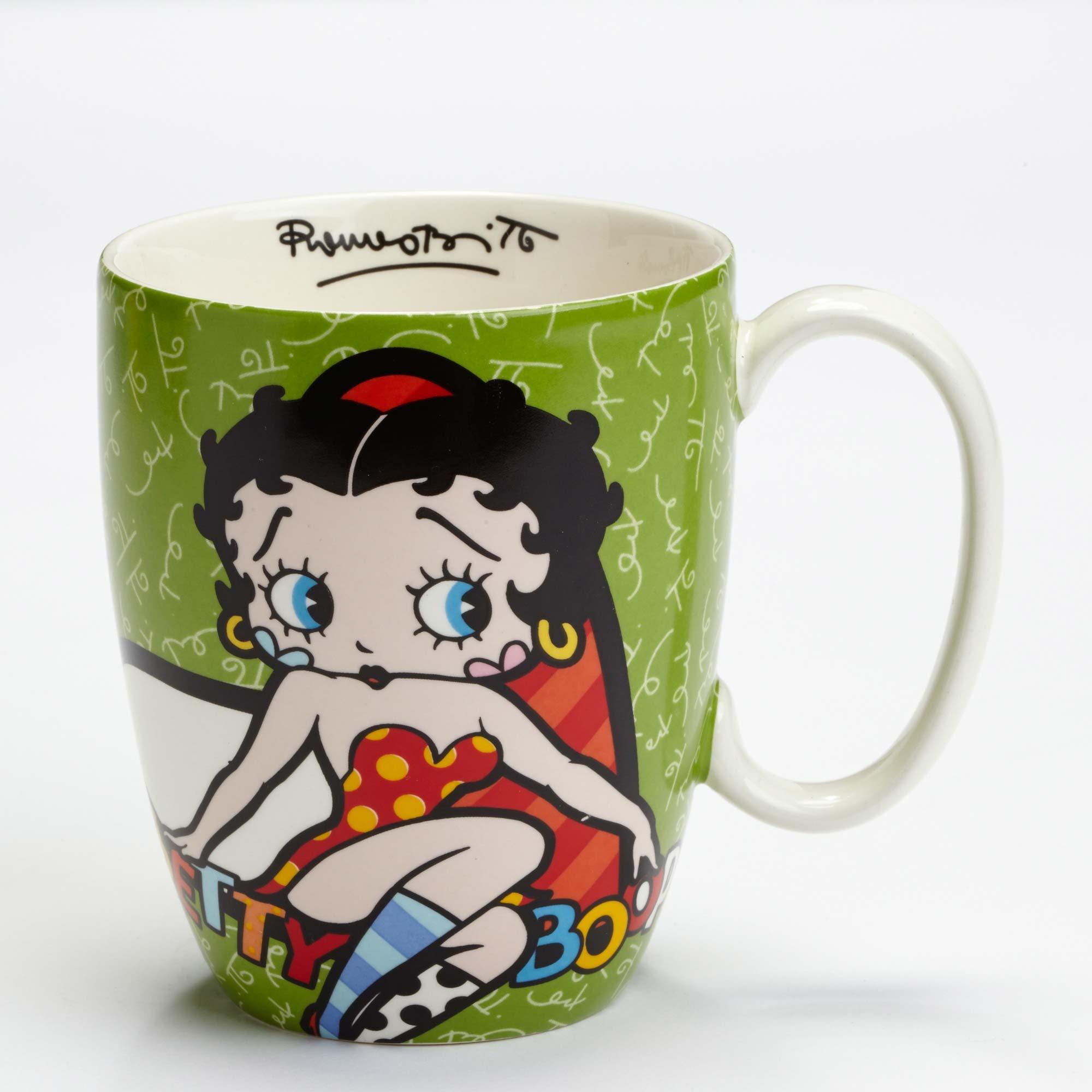 Betty Boop Green Mug by Britto - Artreco