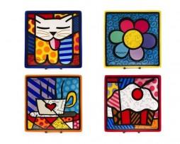 Romero Britto Ceramic Square Plates