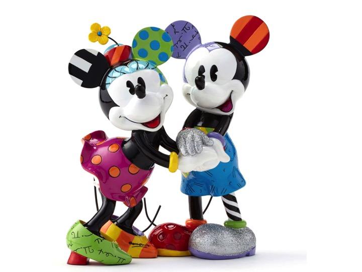 Britto Disney NLE 2500 Mickey & Minnie Figurine * LIMITED EDITION ...