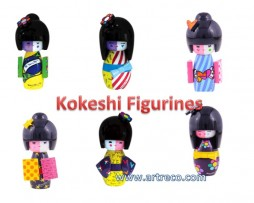 Britto Kokeshi Figurines