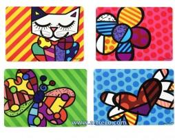 Romero Britto 4 Different Icone Placemats
