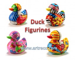Britto Duck Figurines - Certificate of Authenticity -