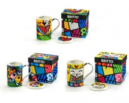 Britto Mugs with Lid