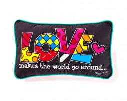 Romero Britto Decorative Pillow  - LOVE