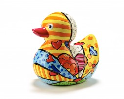 Romero Britto Limited Edition Duck Figurine - HAPPY