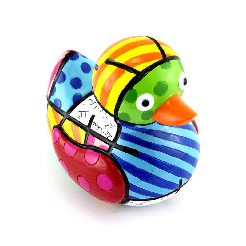 """Romero Britto /""""Limited Edition/"""" Duck Figurine JOY"""