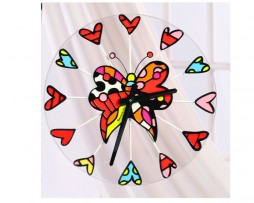 Romero Britto Butterfly Wall Clock