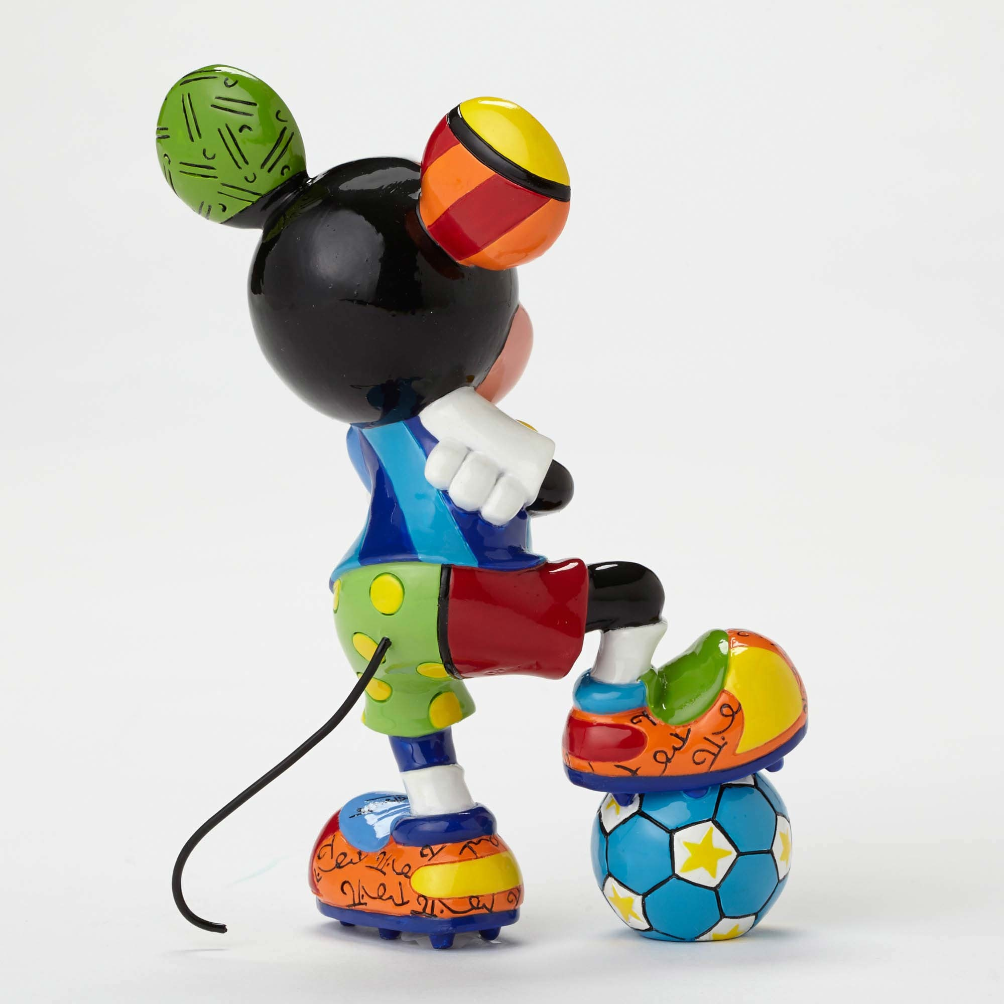 Britto Mickey Soccer Figurine - Artreco