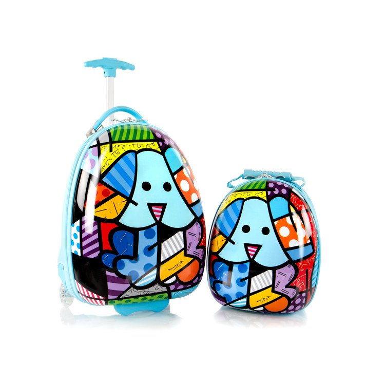 9dea4fbb9 Britto for Kids - Luggage and Backpack Set: Blue Dog - Artreco