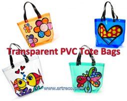 Transparent PVC Tote Bags